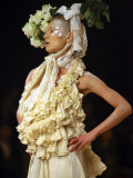 Model Displays Creation by Aya Furuhashi During Tokyo Fashion Week