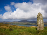 Standing Stone on Bear Island  Beara Peninsula  County Cork  Ireland