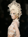 Model Wears a Creation by French Fashion Designer Jean-Paul Gaultier