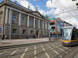 Modern Luas Tram in Front of Iveagh House 1730  Dublin  Ireland