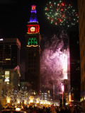 Fireworks Show is Part of the New Year Celebration Along the 16th Street Mall in Downtown Denver
