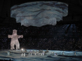 Polar Bear Rises to the Stage at the 2010 Vancouver Olympic Winter Games Opening Ceremonies
