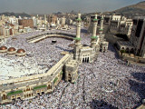 Hundreds of Thousands of Pilgrims Perform Friday Prayers at the Great Mosque in Mecca  Saudi Arabia