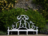 Garden Seat Bearing the Initials of the Earls of Rosse  Birr Castle  County Offaly  Ireland
