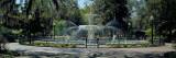 Fountain in a Park  Forsyth Park  Savannah  Chatham County  Georgia  USA