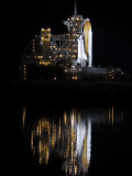 Space Shuttle Discovery Sits on a Launch Pad at the Kennedy Space Center in Cape Canaveral