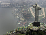 Waving Flags in Rio De Janeiro after Brazil Was Officially Chosen by Fifa as Host of 2014 World Cup