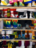 Group Photo of Clowns&#39; Shoes at a Week Long Latin American Clown Convention in Mexico City