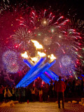 Fireworks after Gretzky Lit the Olympic Cauldron at the Opening Ceremonies of the 2010 Winter Games