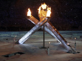 Olympic Flame During the Opening Ceremony for the Vancouver 2010 Olympics
