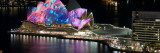 Opera House Lit Up at Night  Sydney Opera House  Sydney  New South Wales  Australia