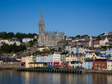 Immigrant Embarkation Harbour  Terraced Houses and St Colman's Cathedral  Cobh  Ireland