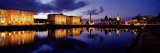 Reflection of Buildings in Water  Albert Dock  Liverpool  Merseyside  England