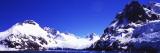 Snow Covered Mountains  Penguin Island  Antarctic Peninsula  Antarctica