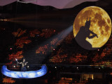Musician Performs During the Opening Ceremony for the Vancouver 2010 Olympics