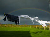Rainbow  Stormy Sky and Clothes Line  Bunmahon  County Waterford  Ireland