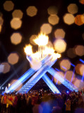 Gretzky Lights the Olympic Cauldron at the Opening Ceremonies of the 2010 Vancouver Winter Games
