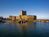 Carrickfergus Castle and Harbour  County Antrim  Ireland