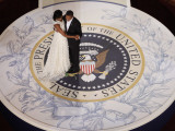 President Barack Obama and First Lady Dance at the Commander in Chief Inaugural Ball Papier Photo