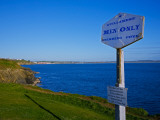 Anachronistic Sign  Guillamene Swimming Cove  Tramore  County Waterford  Ireland