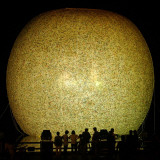 Residents Look at a Giant Balloon Floating at Ilsan Lake Park  Part of the World Culture Open 2004