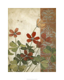 Red Antique Floral I