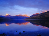 Sunset Colors the Peaks over Kintla Lake in Glacier National Park  Montana  USA