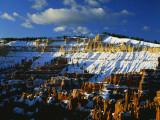 Snow Covered Cliffs and Hoodoos  Bryce Canyon National Park  Colorado Plateau  Utah  USA