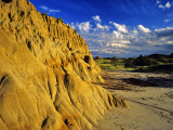 Badlands of Theodore Roosevelt National Park  North Dakota  USA