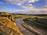Little Missouri River in Theodore Roosevelt National Park  North Dakota  USA