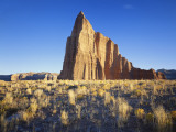 Formation of Plateau in Capitol Reef National Park  Lower Cathedral Valley  Colorado Plateau  Utah