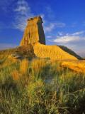 Eroded Monument in the Little Missouri National Grasslands  North Dakota  USA
