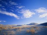 Cirrus Clouds Above Sand Dunes  Salt Wells Basin  Great Basin  Nevada  USA