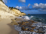Cliffs at Cupecoy Beach  St Martin  Caribbean