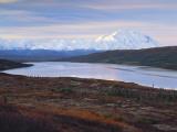 View of Wonder Lake with Mt Mckinley  Denali National Park  Alaska  USA