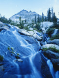 Water Flowing over Rocks at Dusk  Snowyside Peak  Sawtooth National Forest  Idaho  USA