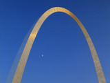 Gateway Arch at Dusk  Jefferson National Expansion Memorial  St Louis  Missouri  USA