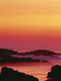 Offshore Rocks at Sunset  Pacific Grove  Monterey Peninsula  California  USA