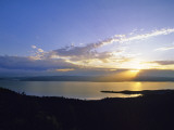 Sun Sets over Flathead Lake  Montana  USA
