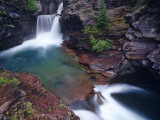 St Mary Falls in Glacier National Park  Montana  USA