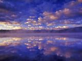 Clouds Reflect into Georgetown Lake  Montana  USA