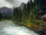 St Mary River on a Stormy Day in Glacier National Park  Montana  USA