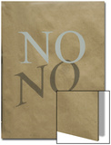 No' Written on a Paper Bag
