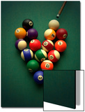 Pool Balls Arranged in a Heart Shape