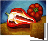 Ed Bell Peppers on Cutting Board