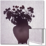 Silhouette of a Vase of Flowers