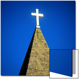 Church Steeple with Cross
