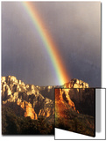 Very Dark Gray Sky  Rainbow over Red Rocks  Sedona  Arizona  USA