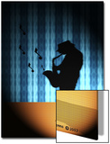 Silhouette of Saxophone Player