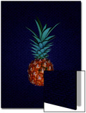 Pineapple on Royal Blue Background